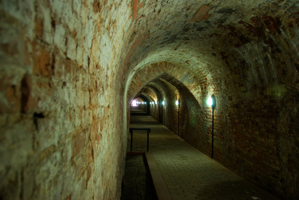 Casemate in old fortress: Underground part of XIX century fortress