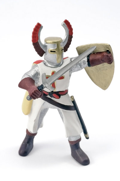 Crusader 1: Plastic model of medieval knight