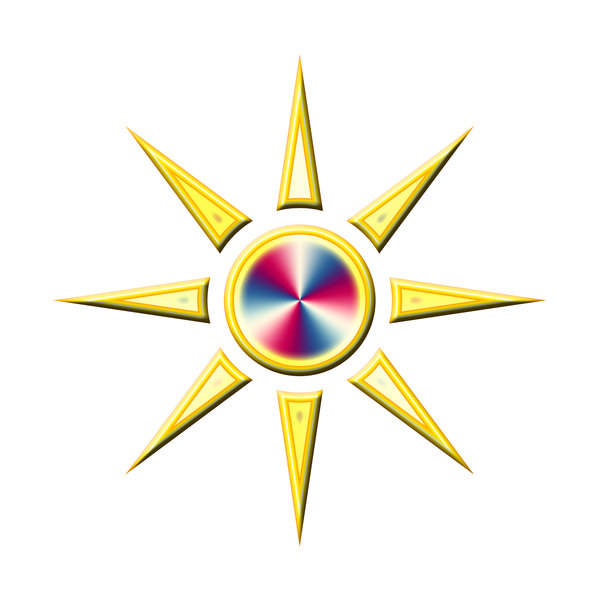 Sun pictogram 5