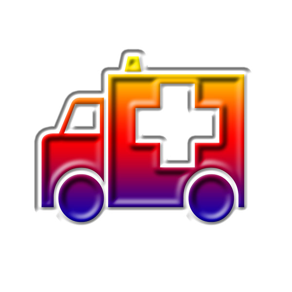 Emergency pictogram 3: Ambulance icon
