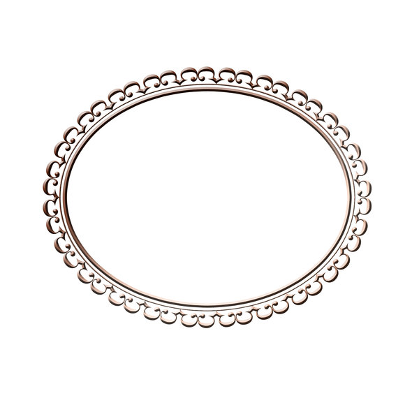 Horizontal oval frame 4: Decorative oval frame for painting or photo