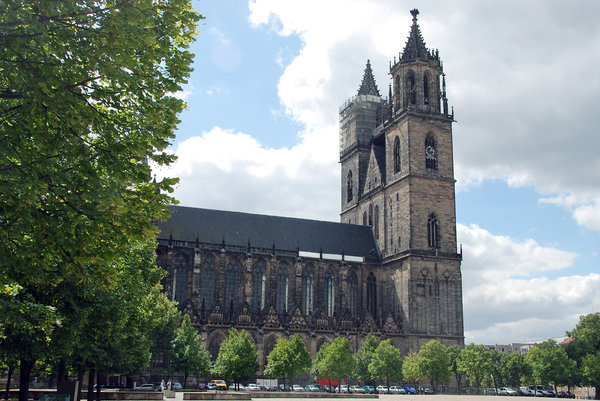Gothic cathedral in Magdeburg