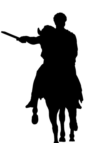 Silhouette of warrior
