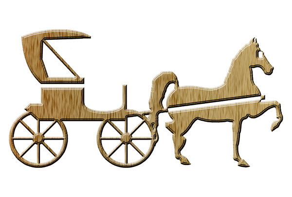 Horse-drawn carriage pictogram