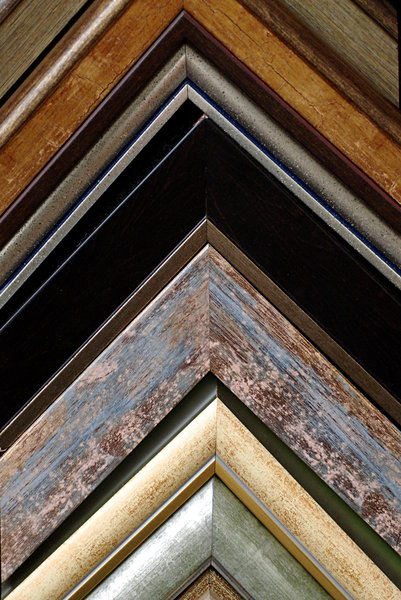 Detail of frames - texture 2: Corners of image frames