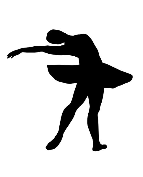 Ballet 3: Silhouette of dancing girl