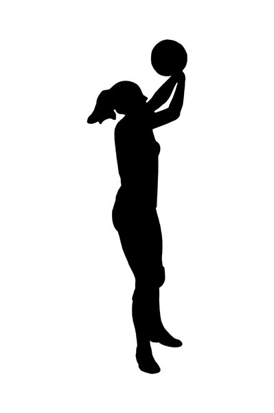 Volleyball 3: Silhouette of playing girl