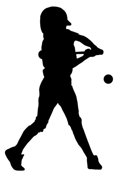 Batter from baseball team 5: Silhouette of baseball player
