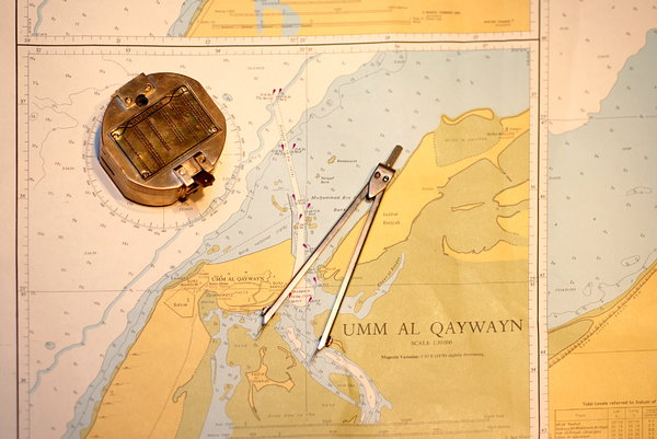 Old maritime map: Old nautical chart