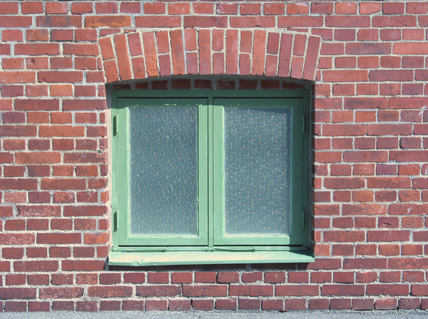 window in brickwall: Just a window in a brickwall