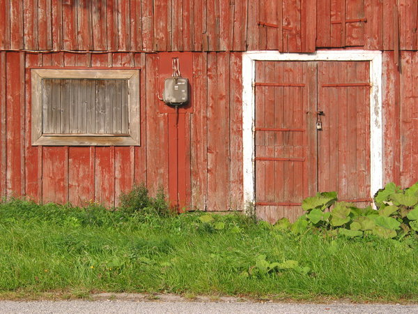 door and window: Door and window (sort of). From an old building on the countryside north of Ystad, Sweden.
