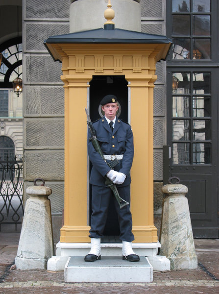 Royal castle guard Stockholm