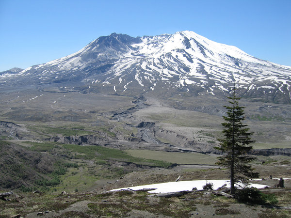 Mount St Helens: The first snow on the summit of Mount St Helens,