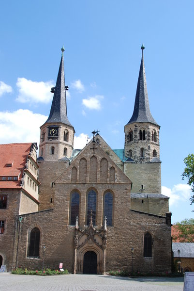 Merseburg Cathedral of St John: Construction on the Gothic cathedral was begun by Bishop Thietmar of Merseburg in 1015. It was consecrated in 1021 in the presence of Henry II. The cathedral was renovated in the Renaissance style from 1510-17. It is considered an artistic and historical