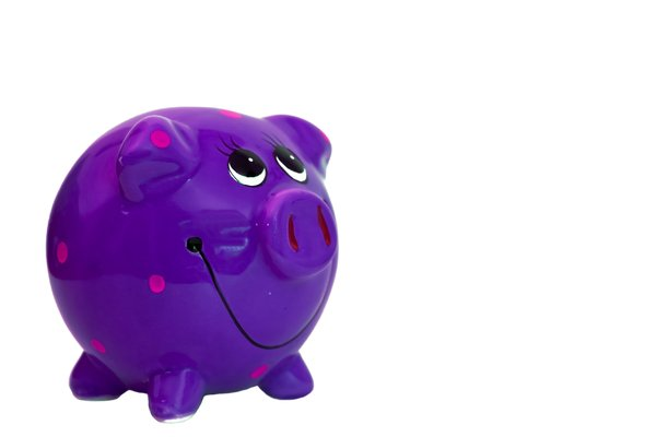 Purple Piggy Bank: