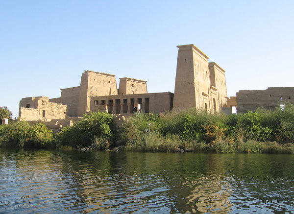 Philae Temple: Philae temple at lake Nasser, Aswan. Once moved by the Italians