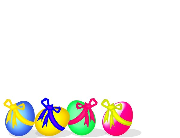 Easter Background 1: Pretty Easter background for children in bright primary colours.
