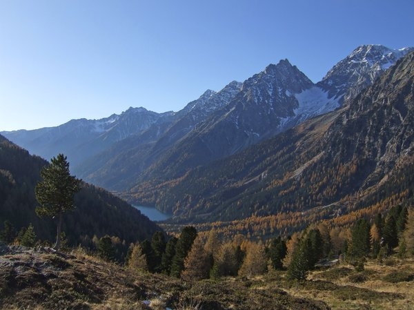 lake in south tyrol, autumn