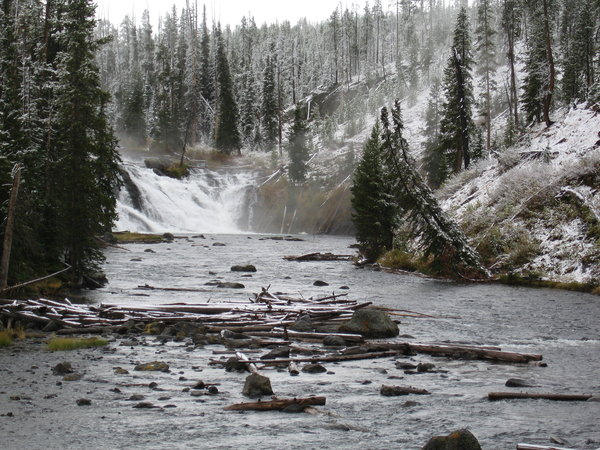 Winter river in Yellowstone Pa
