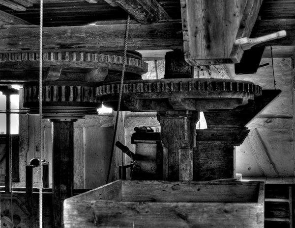 Watermill - HDR: Inside a very old watermill, HDR taken from tree pictures.