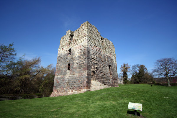 Etal Castle 1: Etal was built in the mid-14th century by Robert Manners as a defence against Scots raiders, in a strategic position by a ford over the River Till. It fell to James IV's invading Scots army in 1513, immediately before their catastrophic defeat at nearby