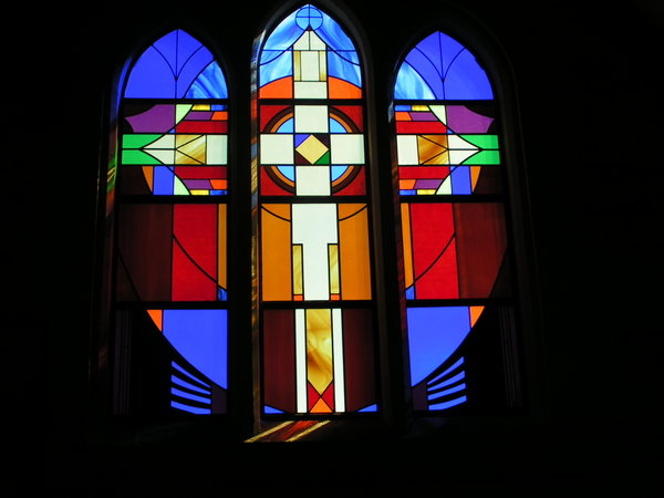 stained glass church window: window in Anglican Church, Auckland, New Zealand