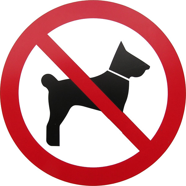 No dogs allowed: A sign. Please let me know if you use this!