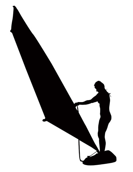 Windsurfer silhouette: A windsurfer on a duty. Please let me know if you use this!