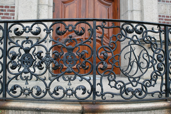 Wrought iron: An ornamental wrought iron railing in Norway.