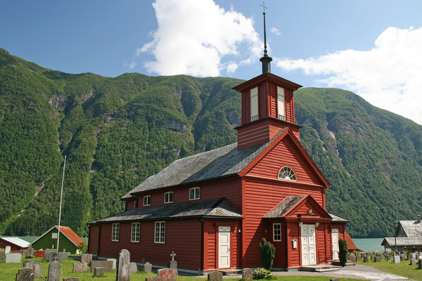 Red church: A country church in Norway.