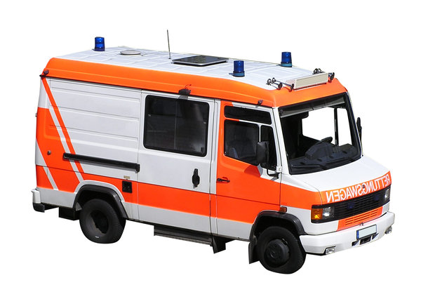 Ambulance: An ambulance. German one.  Please let me know if you decide to use it!