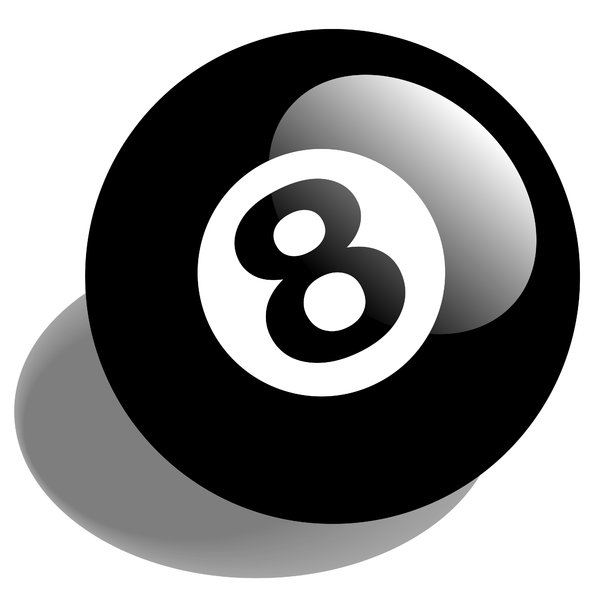 8 Ball: 8 ball illustration.