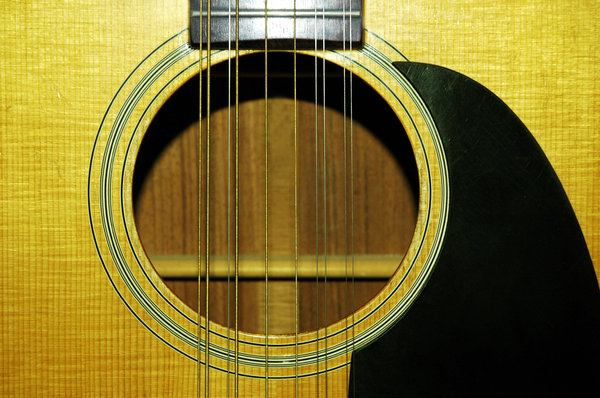 12 String Guitar face: 12 String guitar sound hole