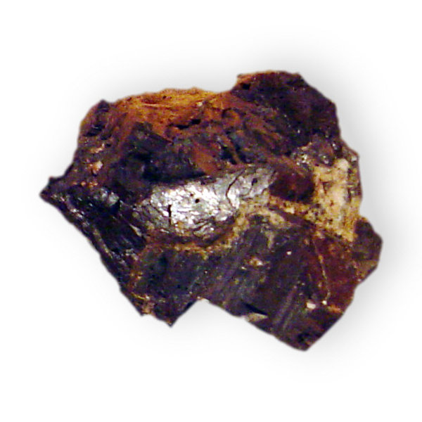 Alabandite with wad: Alabandite with wad (Manganese sulfide)Location; Alchichica, Puebla, Mexico