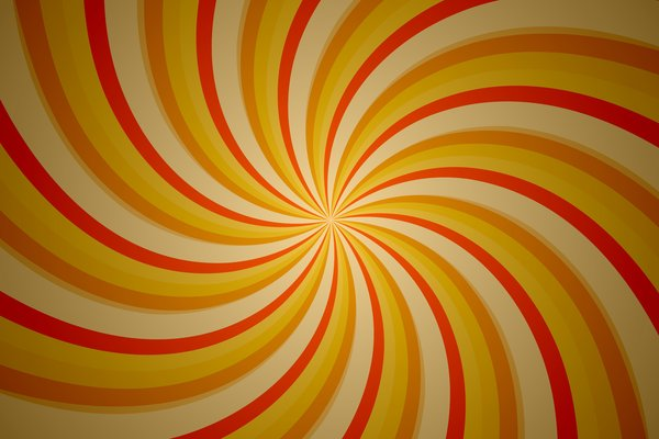 Orange Tunnel: Tunnel with the orange and yellow stripes