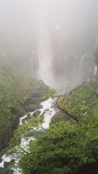 Kegon Falls: These are photos I took of Kegon Falls in Japan. It was raining, so the top of the waterfall disappeared. It was breathtaking, but really hard to get a decent shot between the water from the surrounding waterfalls and the rain water. PLEASE COMMENT!