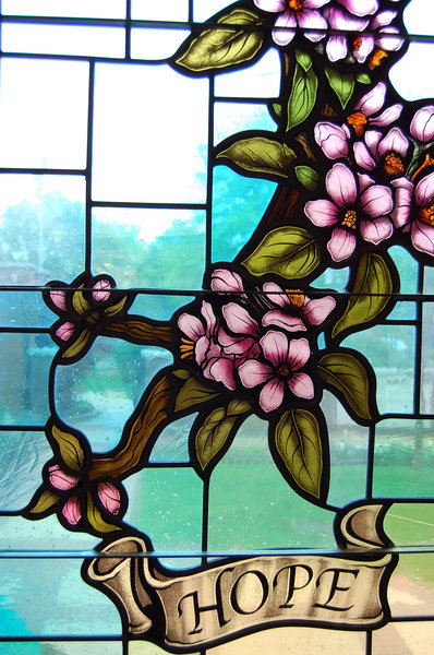 Stained glass: The beautiful window in a little church. Please Comment.