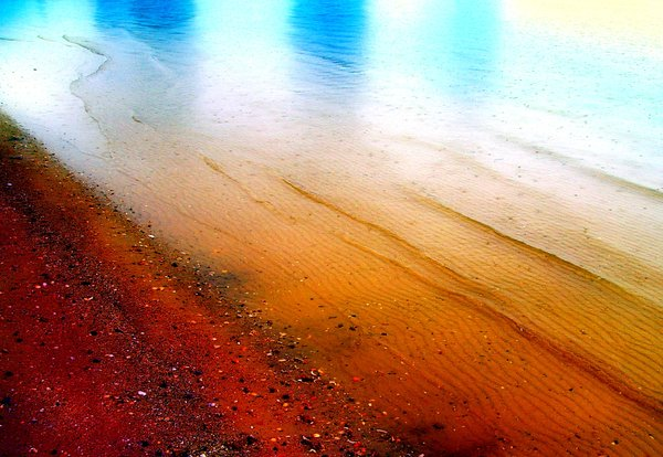 Abstract Colours - Shoreline: A sandy shore. Use within licence or contact me.