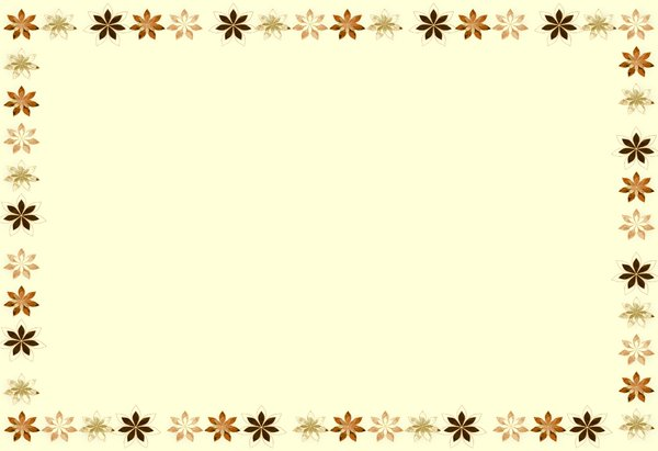 Glass Flower Border in Sepia: Stained glass flowers in autumnal or fall colours make a frame or border around a plain background. You may prefer:  http://www.rgbstock.com/photo/2dyX5OR/Floral+Glass+Border