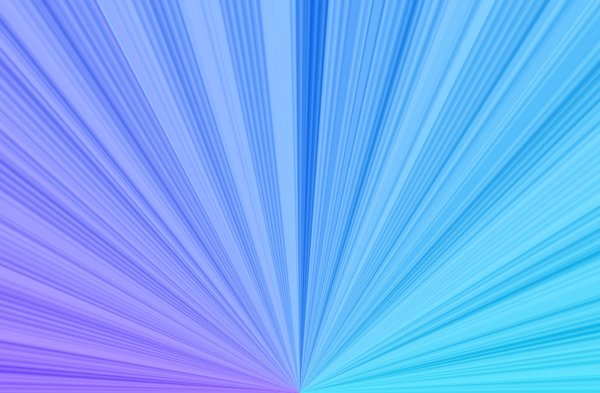 Flare: A half sunburst or flare in blue and purple  useful for design or backgrounds.