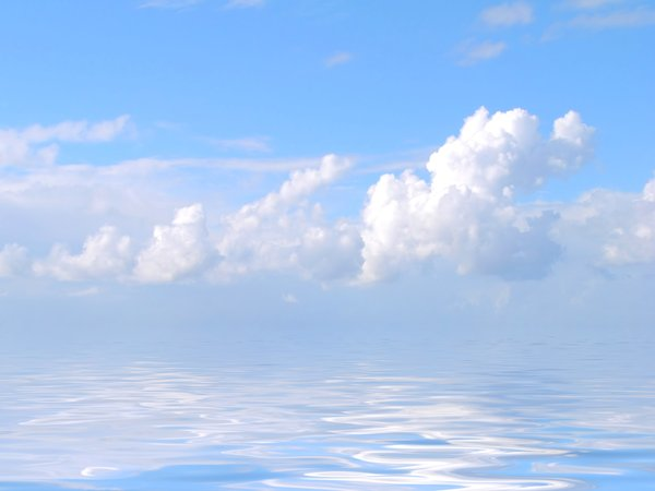 Clouds Over Water: Beautiful cloudy skies reflected in water. Photo and Graphic. Please remember that none of my images may be redistributed.