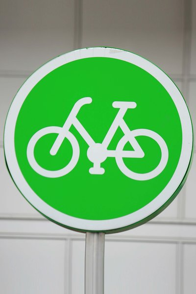Green Cycle: Green cycle sign