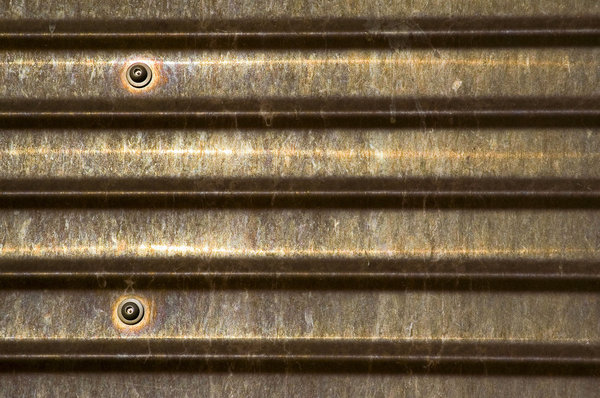 Corrugated Copper: This is a sheet of corrugated copper on the main Public Library in Phoenix, Arizona.