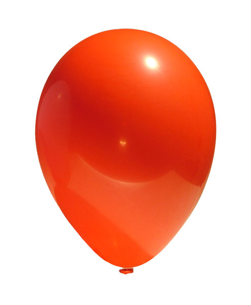 RGB balloon 1: A simple image of a balloon isolated from the background. In three different hues: red, green and blue.