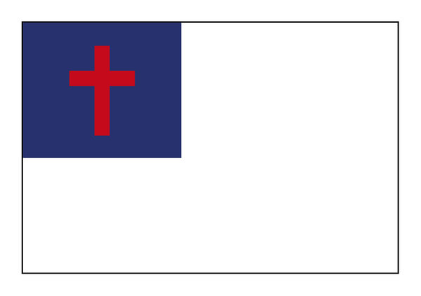 Christian Flag 1: This is The Christian Flag; a simple yet very powerful graphic. One version of just the flag and one on a paper background with copy space, possibly for the Christian Pledge.http://www.dailyaudiobibl ..Please visit my stockxpert gallery:http://www.stockxp