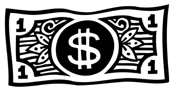 Dollar Bill: Simple stylized black and white drawing of a Dollar Bill.Please visit my stockxpert gallery:http://www.stockxpert.com ..