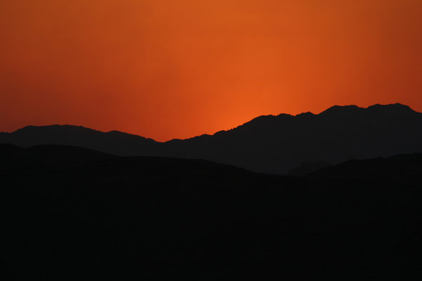 sunset in the desert 5: sunset in the jordan's desert