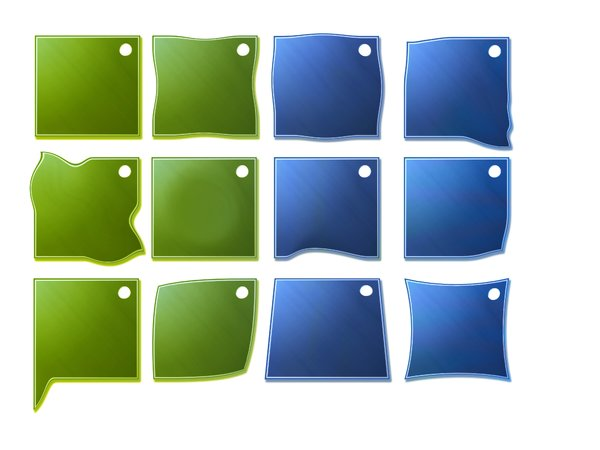 Buttons: green and blue buttons illustration
