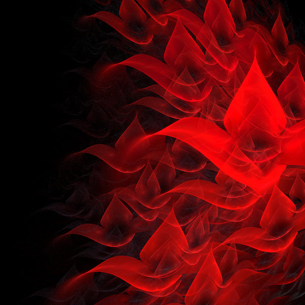 Blood Flowers: Created by me and my laptop with Apophysis 2.08