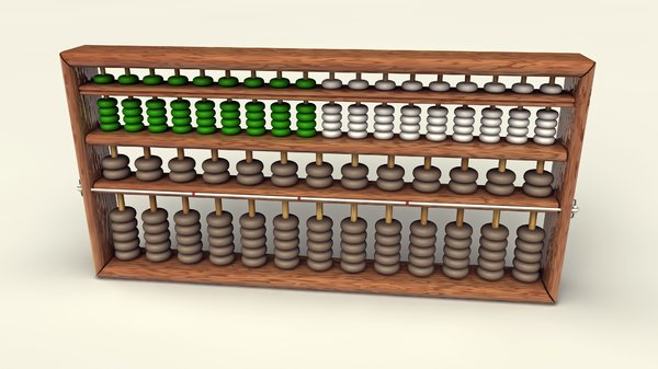 Abacus: the first calculator: An abstract picture of an abacus. It was invented in China and is considered one of the first calculators around the world.